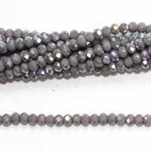 03X04MM FACETED ROUNDELLE GREY AB COLOR