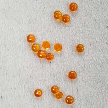 4MM ROUND CABOCHON CZ AMBER COLOR CAB(20PCS/BAG)