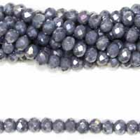 05X06MM FACETED ROUNDELLE GREY AB COLOR