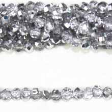 05X06MM FACETED ROUNDELLE HALF SILVER COLOR