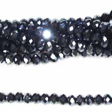 05X06MM FACETED ROUNDELLE HEMATITE COLOR