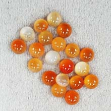 6MM ROUND CABOCHON CARNELIAN NATURAL (20PCS/BAG)