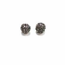 PAVE CRYSTAL 08MM HEMATITE
