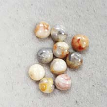 8MM ROUND CABOCHON CLAZY LACE AGATE(10PCS/BAG)