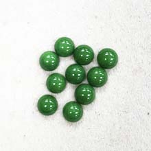 8MM ROUND CABOCHON DYED GREEN JADE(10PCS/BAG)