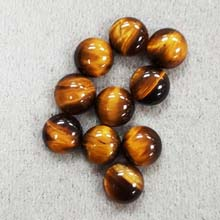 8MM ROUND CABOCHON TIGER EYE(10PCS/BAG)