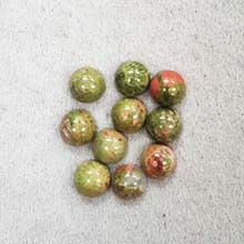 8MM ROUND CABOCHON UNAKITE(10PCS/BAG)