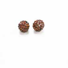PAVE CRYSTAL 10MM SMOKED TOPAZ