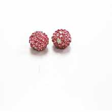 PAVE CRYSTAL 10MM ROSE