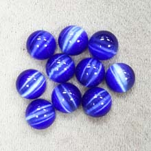 10MM ROUND CABOCHON CATS EYE BLUE(10PCS/BAG)