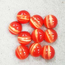 10MM ROUND CABOCHON CATS EYE DARK ORANGE