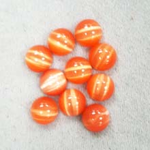 10MM ROUND CABOCHON CATS EYE ORANGE(10PCS/BAG)