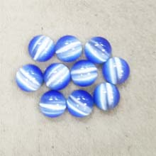 10MM ROUND CABOCHON CATS EYE LIGHT BLUE(10PCS/BAG)