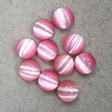 10MM ROUND CABOCHON CATS EYE PINK