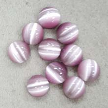 10MM ROUND CABOCHON CATS EYE LIGHT PURPLE(10PCS/BAG)