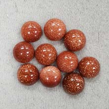 10MM ROUND CABOCHON GOLD STONE(10PCS/BAG)