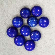 10MM ROUND CABOCHON HOWLITE LAPIS(10PCS/BAG)