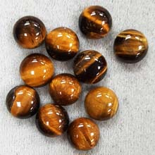 10MM ROUND CABOCHON TIGER EYE(10PCS/BAG)
