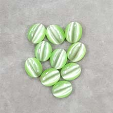 10X14 CAT'S EYE LIGHT GREEN (10PCS/BAG)
