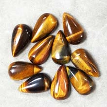 10X18MM PEAR CABOCHON TIGER EYE (10PCS/BAG)