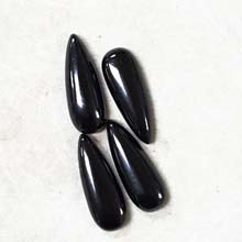 10X28MM PEAR CABOCHON BLACK ONYX (4PCS/BAG)
