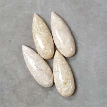 10X28MM PEAR CABOCHON RIVER STONE (4PCS/BAG)