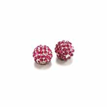 PAVE CRYSTAL 10MM FUCHSIA