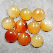 12MM ROUND CABOCHON CARNELIAN NATURAL(10PCS/BAG)