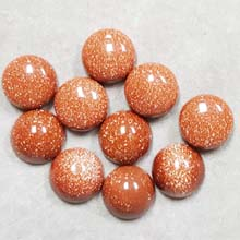 12MM ROUND CABOCHON GOLD STONE(10PCS/BAG)