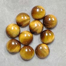 12MM ROUND CABOCHON TIGER EYE(10PCS/BAG)