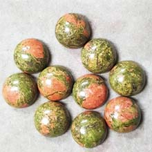 12MM ROUND CABOCHON UNAKITE(10PCS/BAG)