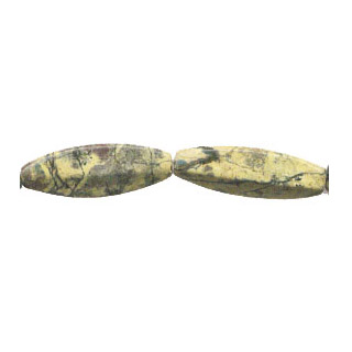 YELLOW TURQUOISE 4 FACE OVAL 12X35MM