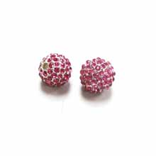 PAVE CRYSTAL 12MM FUCHSIA