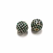 PAVE CRYSTAL 12MM  EMERALD