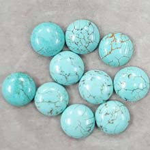 12MM ROUND CABOCHON STABILIZED TURQUOISE(10PCS/BAG)