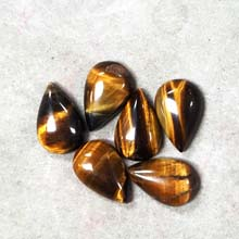13x20MM PEAR CABOCHON TIGER EYE (6PCS/BAG)