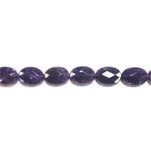 AMETHYST(AB) FACETED FLAT OVAL 13X18MM