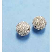 PAVE CRYSTAL 14MM CLEAR