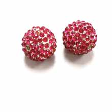 PAVE CRYSTAL 14MM FUCHSIA