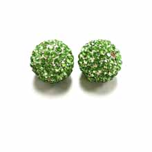 PAVE CRYSTAL 14MM PERIDOT