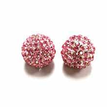 PAVE CRYSTAL 14MM LIGHT ROSE