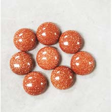 14MM ROUND CABOCHON GOLD STONE(8PCS/BAG)