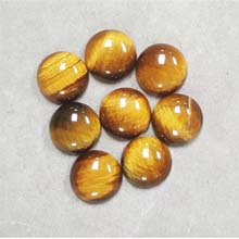 14MM ROUND CABOCHON TIGER EYE(8PCS/BAG)
