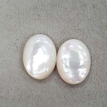 15X20 OVAL CABOCHON AUSTRALIA MOTHER OF PEARL(2PCS/BAG)