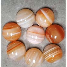 16MM ROUND CABOCHON RED STRIPE AGATE(4PCS/BAG)