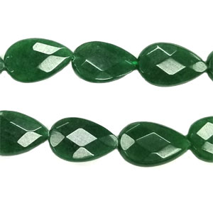 DYED JADE FACETED PEAR CD 16X25MM