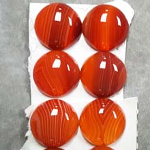 18MM ROUND CABOCHON RED STRIPE AGATE(4PCS/BAG)