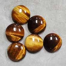 18MM ROUND CABOCHON TIGER EYE(6PCS/BAG)