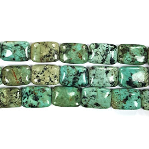 AFRICAN TURQUOISE RECTANGLE 13X18MM