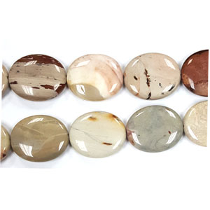 AFRICAN AGATE FLAT OVAL 25X35MM